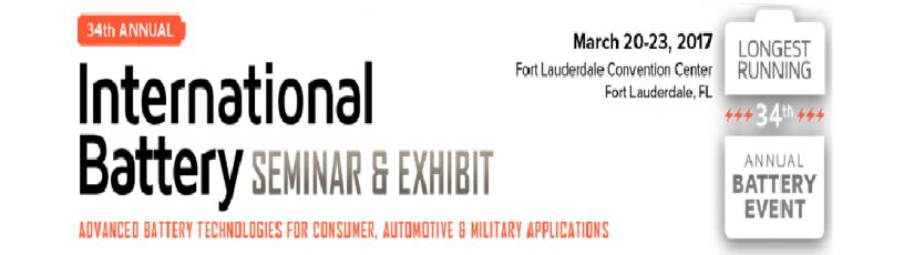 Highpower International to Attend the 34th International Battery Seminar & Exhibit